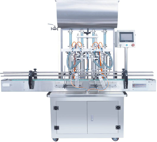 Full Automatic Four Heads Paste Filling Machine