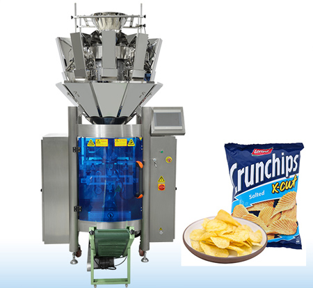 Ten Electronic Scales Weighing Packaging Machine For Potato Chips