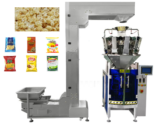 Popcorn Chips Automatic Combined Weighing Packaging Machine