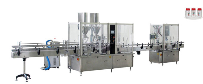 Powder Filling Capping Assembly Line