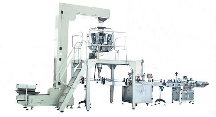 Granule Automatic Can Filling and Sealing Production Line