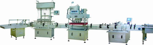 High Speed Automatic Liquid Filling Production Line