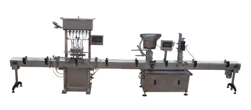 Small automatic liquid filling production line for oral liquid, disinfectant, sauce