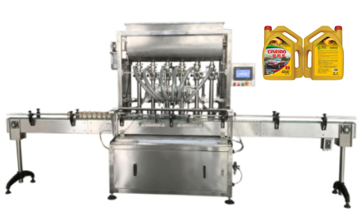 Engine Oil Automatic Filling Machine Fast Speed
