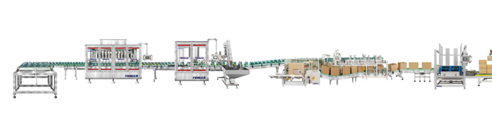 1L-5L Automatic Lubricating Oil Bottles Filling Line